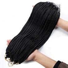 Коробка косички Ombre Наращивание волос Синтетические 22 дюймов крючком косички вязание крючком волосы