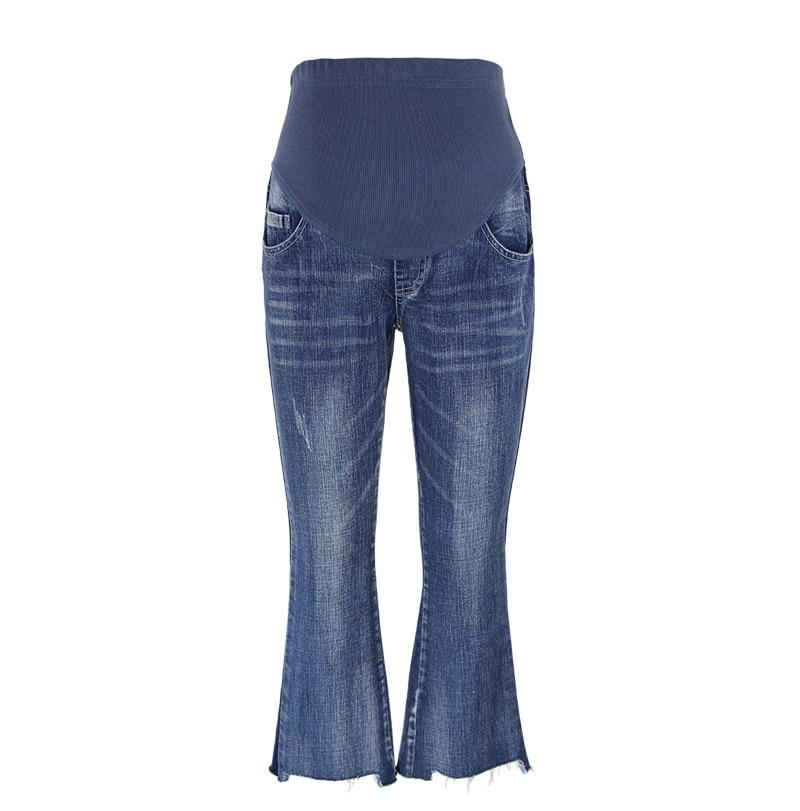 Maternity Fashion Vintage Jeans Spring Plus Size Cotton Pregnant Clothing Denim Elastic Loose Pants Autumn Large Jeans Trousers стоимость