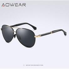 AOWEAR HD классические несексуальные алюминиевые негабаритные солнцезащитные очки es мужские поляризованные UV400 зеркальные оттенки брендовые дизайнерские женские солнцезащитные очки для вождения