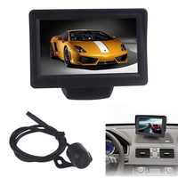 New Arrival 4 3Inch Car TFT LCD Monitor Mirror Reverse Rear View Backup CMOS Camera