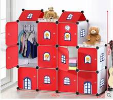 Simple children's room cartoon castle to receive the ark. Baby closet toys to tidy the cabinet store(China)