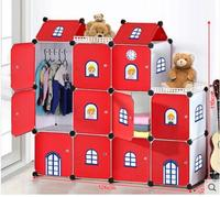 Simple children's room cartoon castle to receive the ark. Baby closet toys to tidy the cabinet store