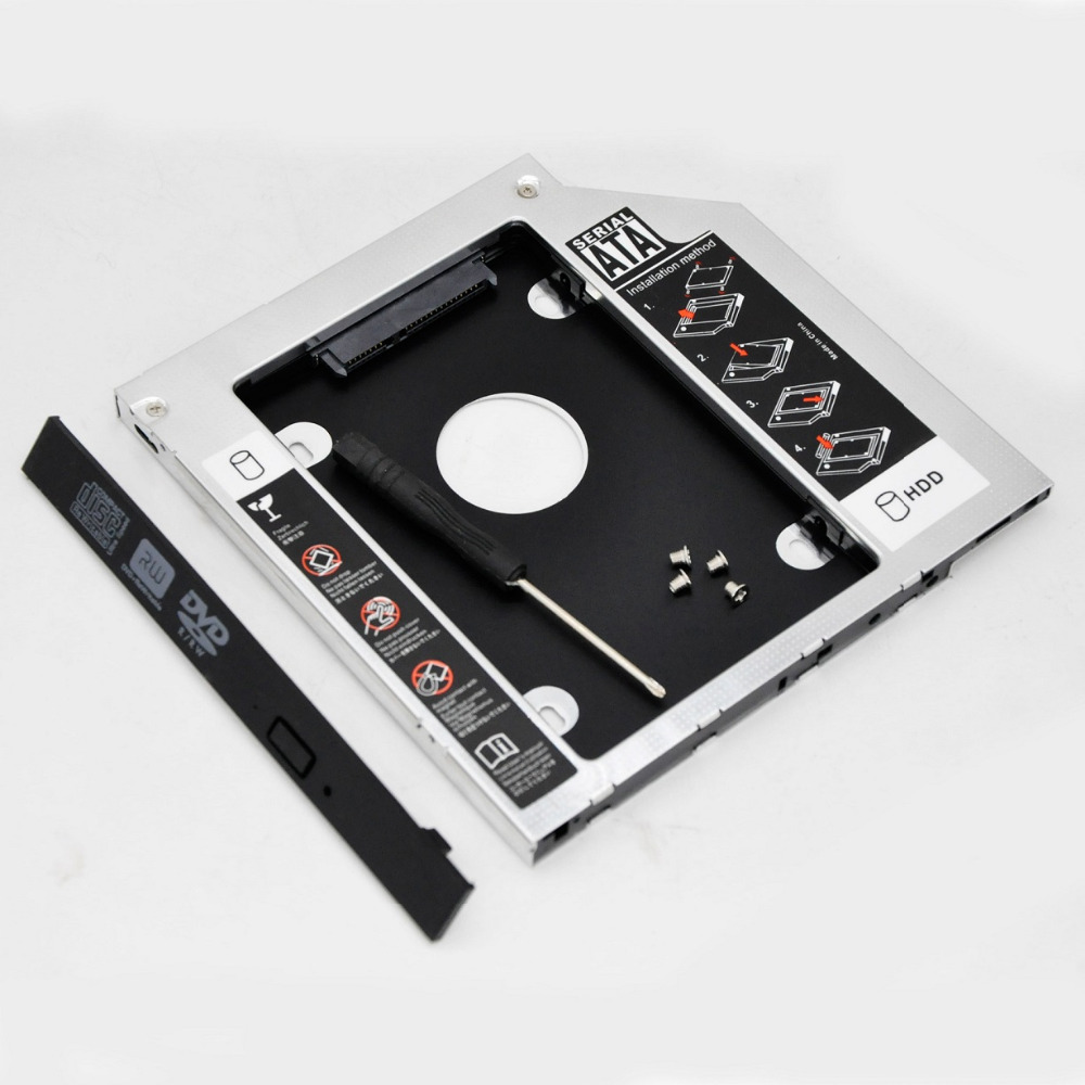 WZSM New 9.5mm 2nd SATA HDD SSD Hard Disk Drive Caddy For Asus X450JF X554L R750jv U6V-A1 Removable Faceplate