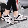 Sapatas das mulheres Cunhas 2016 moda coringa sapatos de Caminhada ocasional respirável sapatos de lona branca zapatillas deportivas mujer projectos Comuns