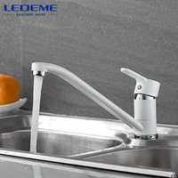 LEDEME Kitchen Faucet Long Pipe 360 Degree Rotation With Water Purification Features Spray Paint Single Handle