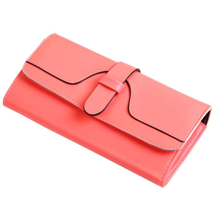 2017 Womens Wallets PU Leather Ladies Purses Lady Coin Pocket Red Long Wallet Female Clutch Bag For Women Gift D35JL13 auau soft leather women wallets bowknot clutch bag long pu card purse wallet for womens rose red