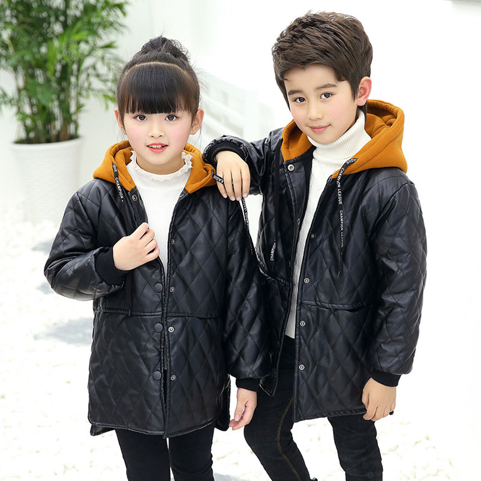 5347407ff55ef6 ... Leather Jacket Boys Fashion Children Outerwear Kids Girls Coats Spring.  sku: 32948015323