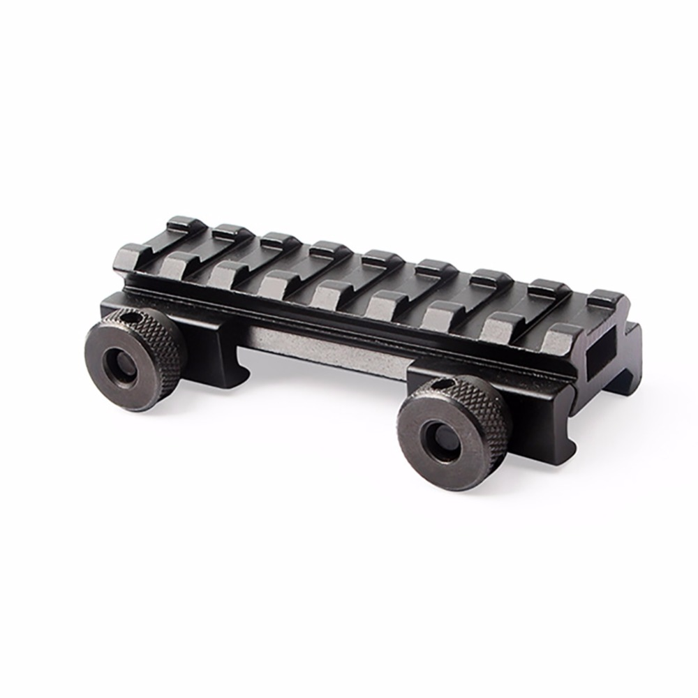 Tactical 1/2 Aluminum Alloy Weaver Rail 20mm Scope Mount Riser Base Picatinny Rail Scope Extend Mount Adapter New quick release aluminum alloy gun mount clips for 20mm rail black 2 pcs