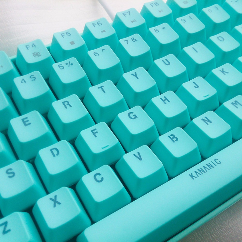 buy white backlight mechanical keyboard blue switch pbt 82 keys wired usb. Black Bedroom Furniture Sets. Home Design Ideas