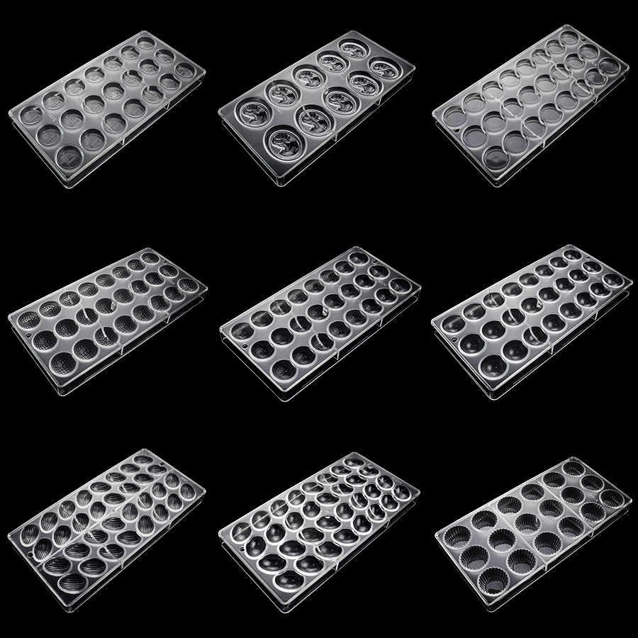 3D polikarbonat çikolata barları kalıpları plastik pişirme pasta ekmek araçları kek dekorasyon tepsisi çikolata Form Bakeware kalıp