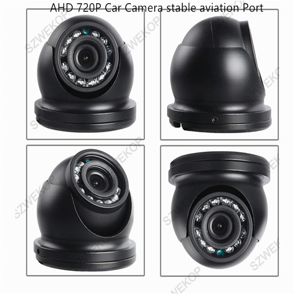 AHD 720P Indoor Plastic Vehicle Camera IR Night VIsion Aviation Interface for Bus Car Truck Vans  Taxi|Surveillance Cameras|   - title=