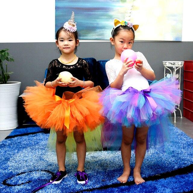 f4760dc805 Baby Girl Pony Tutu Skirt Children Fluffy Ballet Trailing Tulle Tutu Skirts  Princess Birthday Party Pettiskirt For Holidays