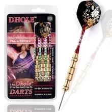 DHOLE Lady Steel Tip Darts,23 Grams Green Dart Barrels For Girls,Lady Set With Red Shaft,Fllower  Flight
