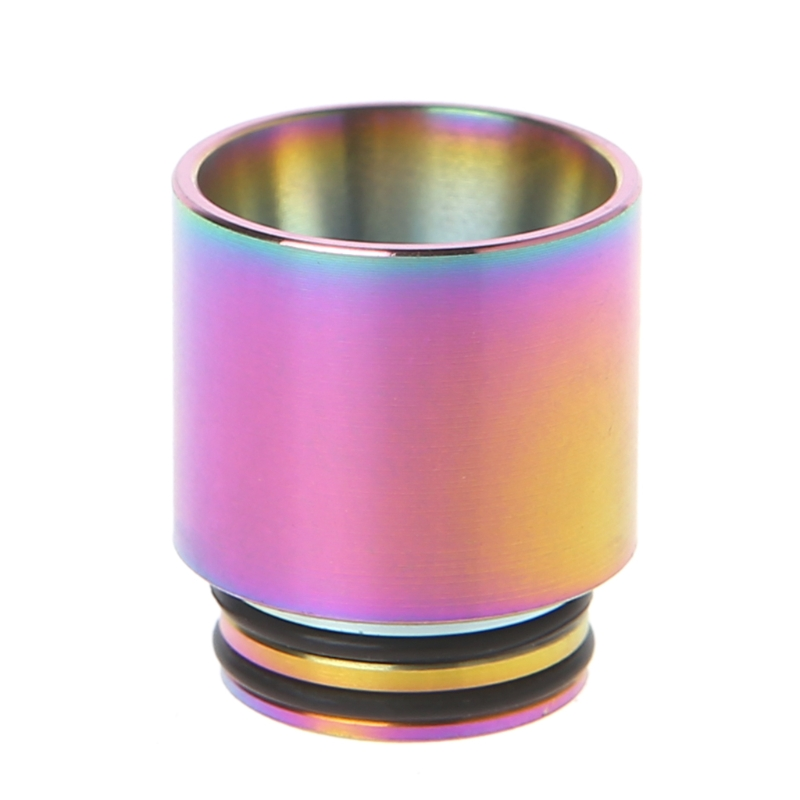 810 Stainless Steel Rainbow Electronic Cigarette Mouthpiece Drip Tip For TFV8