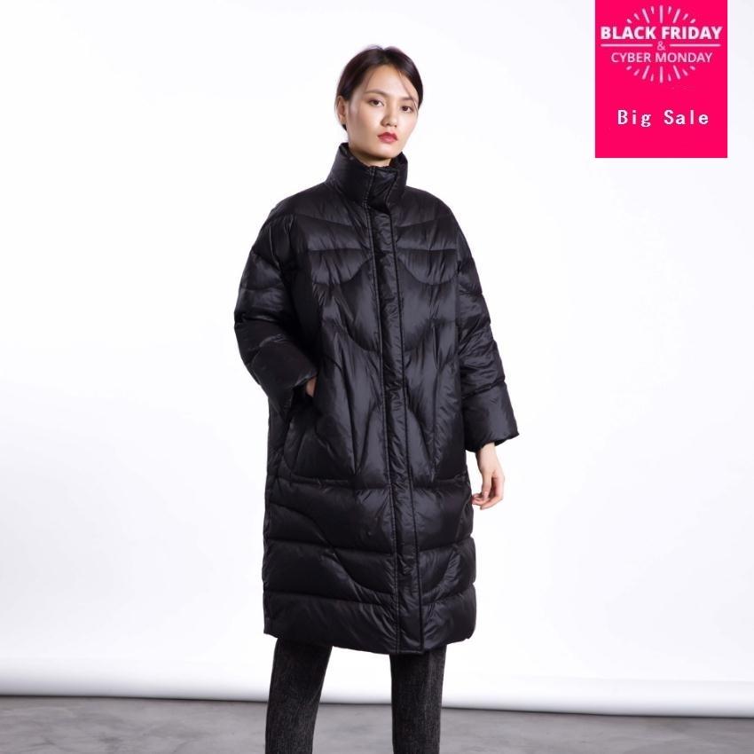 Winter fashion brand good quality X-long over the knee 90% duck   down     coat   female high collar warm   down   parkas wq136 dropship