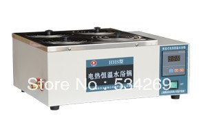 Электрический нагревательный котел для водяной бани Однорядный и 4 отверстия (цифровой дисплей)