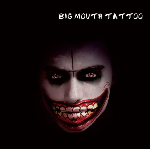 Conosciuto HBM11 Uomo E Donna Big Mouth Trucco Tatuaggio Temporaneo per la  HZ41