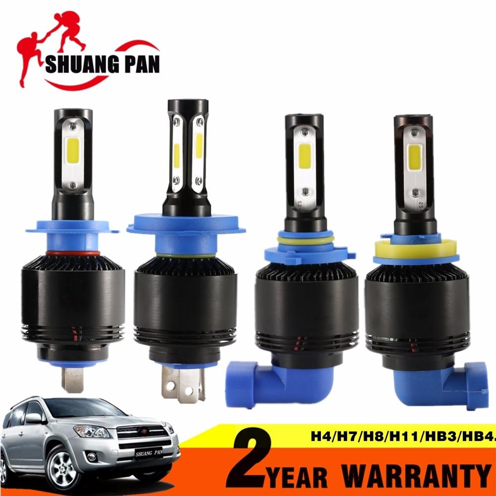 2PCS Car <font><b>LED</b></font> Headlight H4 <font><b>H7</b></font> H8 H11 H1 H3 HB3 9005 HB4 9006 COB Bulb Hi-Lo Beam 72W 8000LM 6500K Auto Headlamp 12v <font><b>24v</b></font>