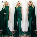 Sexy Long Emerald Green Prom Dress Cheap High Neck Mermaid Prom Dresses 2016 vestidos de noche ballkleider galajurken