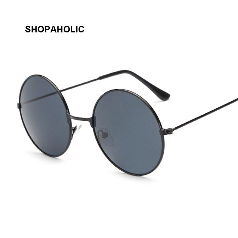 جديد إمرأة النظارات الشمسية المستديرة أحمر أصفر أزرق واضح ظلال متعدد الألوان التدرج مرآة الإناث مصمم Vintage نظارات شمسية