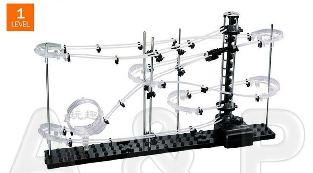 Toy Roller Coaster, Space Rail Level 1, Spacewarp, Spacerail Warp, Hyperdrive+Dump drive, Interplanetary trajectory