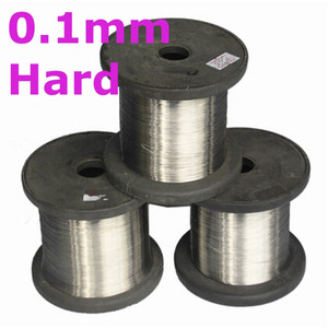 Image 3 - 0.1mm hard condition Bright Smooth Surface 100 meters SS304 Stainless Steel Wire Spools