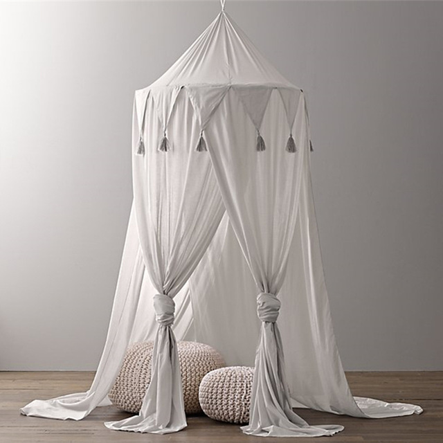 Baby Canopy Bed Curtains Children Mosquito Net Tent Crib Cot Hung Dome Princess Baby Princess Crib Netting Kids Room Decoration