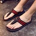 DreamShining Verano Moda PU Zapatos de Moda Flip Flop Sandalias de Los Hombres, Planos Masculinos, Zapatillas de playa Tamaño 40-44