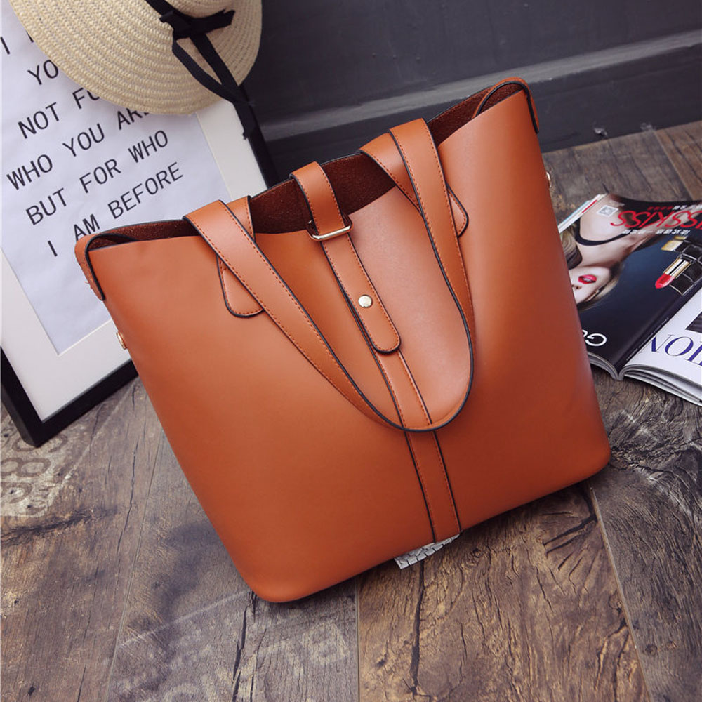 2016 Casual Tote Women Leather Handbags Bucket Shoulder Bags Ladies Cross Body Large Capacity Bag Bolsa Sac