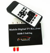 Car Auto External High Definition Full Seg ISDB-T Digital TV Receiver With 2 Tuners 2 Antennas Car Dvd GPS Dual ISDB-T TV Box