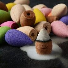 125 шт. цветочный ароматический конус с подносом красочный ароматизатор ароматическая башня ароматизатор смешанный аромат ароматерапия свежий воздух ароматическая специя P5