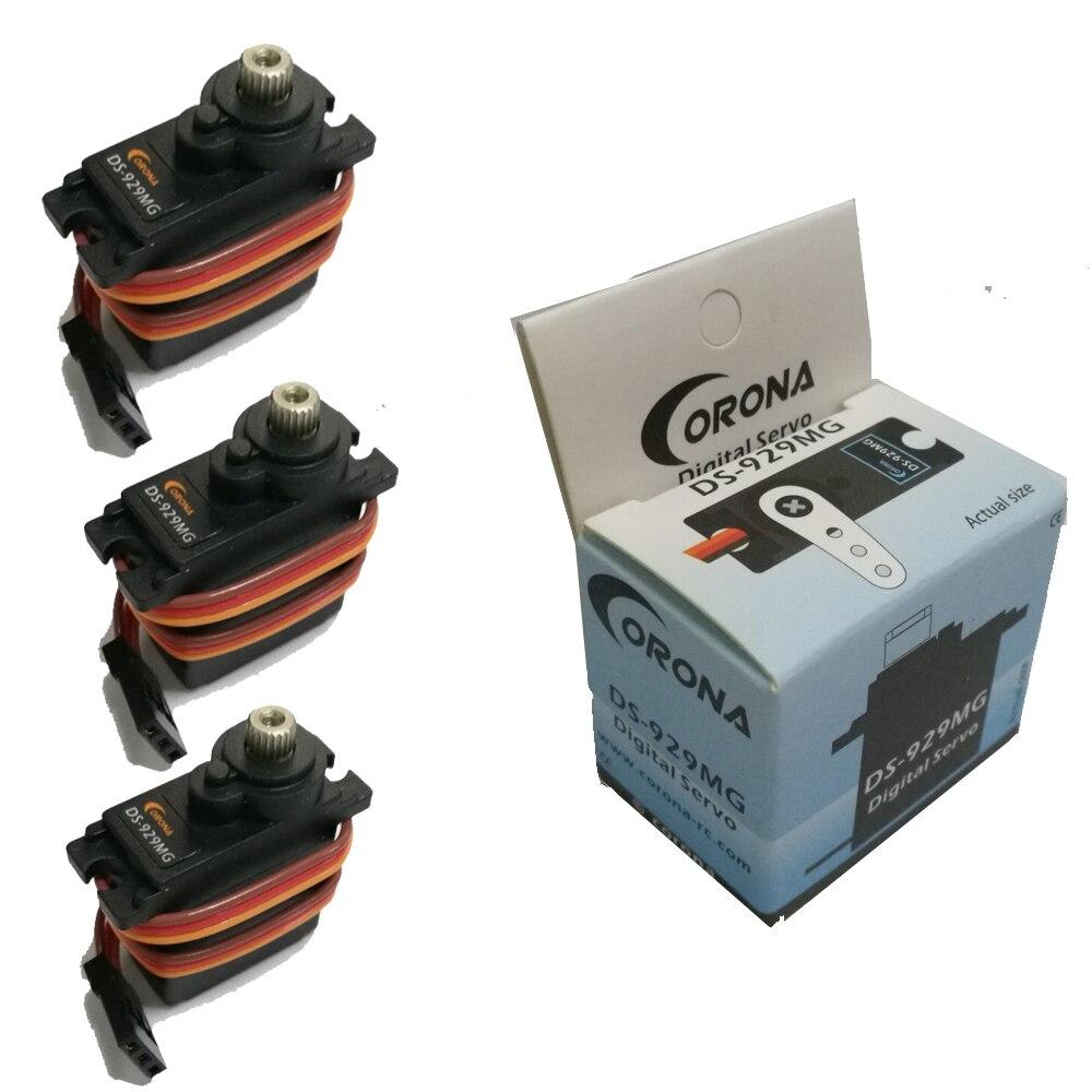 Registrieren verschiffen 3 teile/los 12,5g Metal Gear Corona DS-929MG Digitale Servo DS929MG