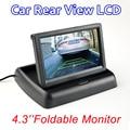 """4.3 """"Monitor a Cores TFT-LCD Monitor Do Carro Dobrável 4.3 polegada Sistema de Estacionamento Do Reverso Do Carro Retrovisor Monitor LCD para o Carro Traseiro Câmera de visão"""