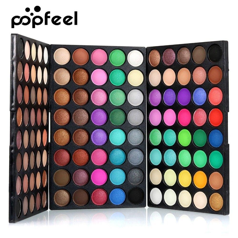 Popfeel 40/120 Colors Gliltter Eye Shadow Palette Matte Eyeshadow Women Beauty Eye Makeup Palette Shimmer Shinne EyeShadow