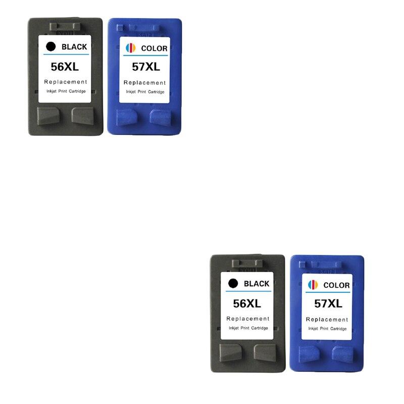 LuoCai Cartouches D'encre Compatibles Pour HP 56 57 Deskjet 450CI 5150 5550 7760 9650 CFP 1315 1350 2110 2210 2410 imprimante Pour HP56