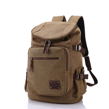 High Quality Men Backpack Zipper Solid Men's Travel Bags Canvas Bag mochila masculina bolsa school bags