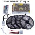 20m LED Strip 5050 RGB Waterproof 5m 10m 15m IP65 tape + 44key IR Remote controller +Power adapter + Amplifier Kit