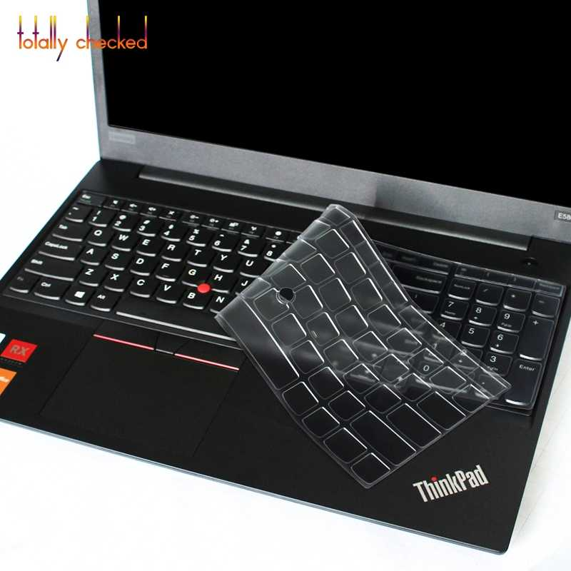 66b7b5077b58 For Lenovo Thinkpad T580 P52S E580 L580 15.6 inch Laptop Silicone Keyboard  Cover Skin Protector 15'' 2018
