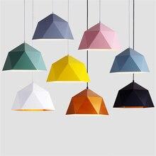 Lampes suspendues nordiques modernes lampe à suspension industrielle lampe à suspension colorée fer suspension pour salle à manger cuisine salon Bar