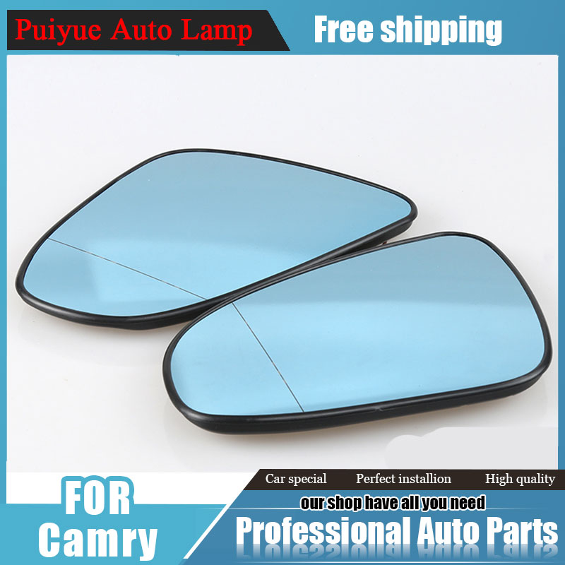 For Toyota Camry Blue Rearview Mirror Car Styling 2015 2016 For