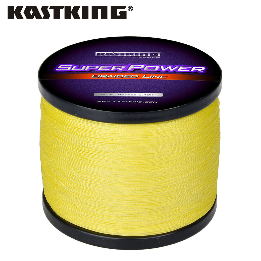 KastKing SuperPower Series 300m 500m 1000m 4 Strand 10-50LB Braided Fishing Line PE Multifilament Braid Lines Lake River Fishing