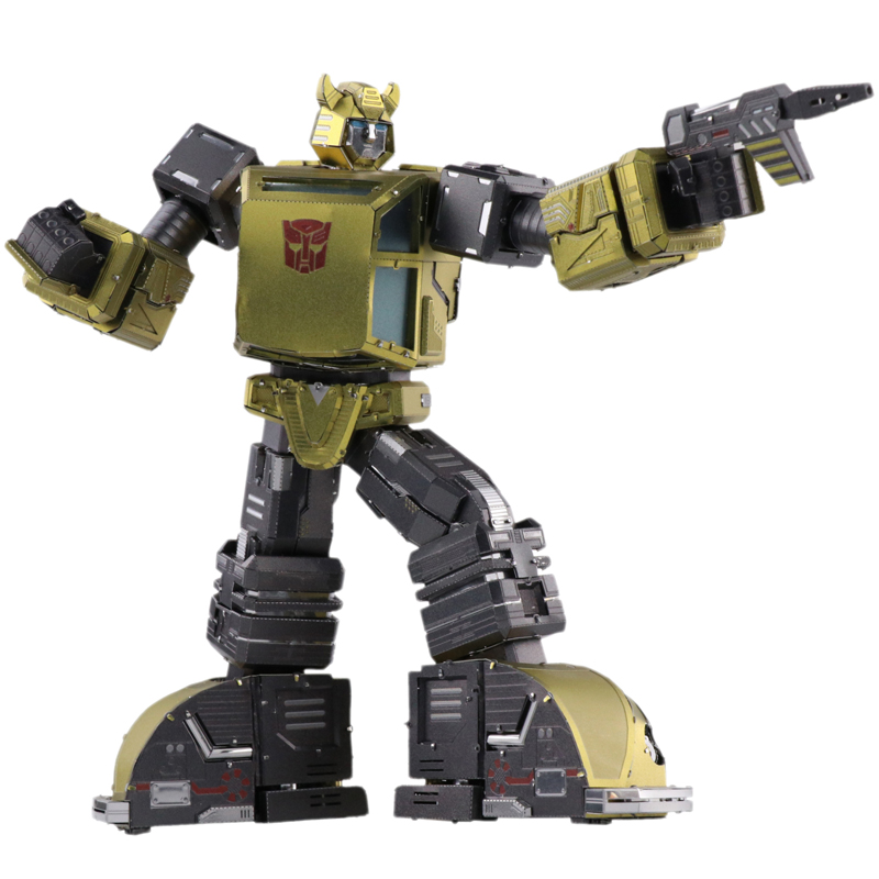 MU 3D Metal Puzzle Optimus Prime G1 Bumblebee Model DIY 3D Laser Cut Assemble Jigsaw Toys Desktop decoration GIFT For Audit