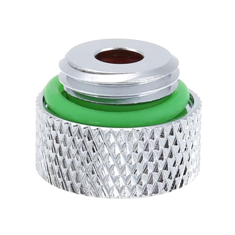 G1/4 Thread Vent Valve Auto Exhaust Chrome Plated Connector Plug 18mm Diameter for PC Water Cooling System Computer Components 13mm male thread pressure relief valve for air compressor