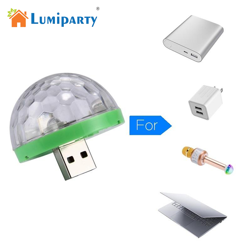 LumiParty Mini Colorful DJ LED Laser Light with USB Plug Mobile Phone Magic Light for Stage Bar Decoration ...