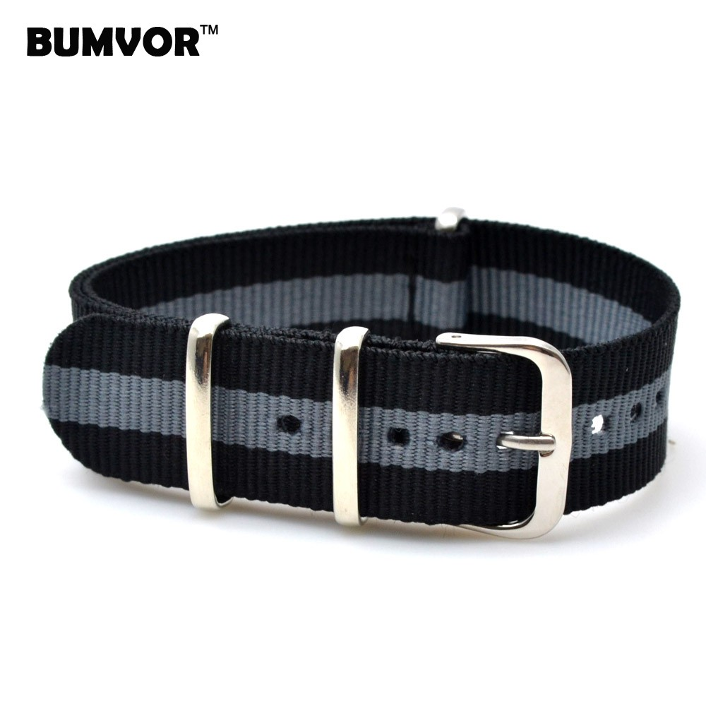 Wholesale Watch Classic 18 mm bracelet Multi Color Black Grey Army nato fabric Nylon watchbands Strap Bands Buckle belt 18mm  wholesale stripe cambo solid black watch 22 mm multi color army military nato fabric nylon watchbands strap bands buckle 22mm