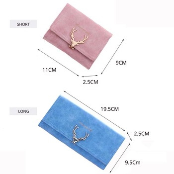 Faux  Suede Long Wallet  2