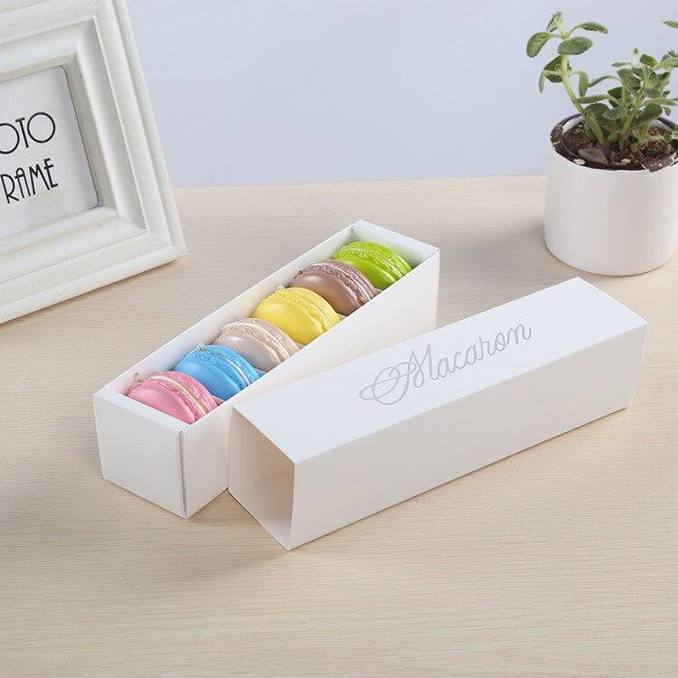 핑크 화이트 블랙과 그린 디저트 마카롱 상자 6 캐비티 다채로운 마카롱 과자 포장 상자 100 pcs-에서선물가방&포장용품부터 홈 & 가든 의  그룹 3