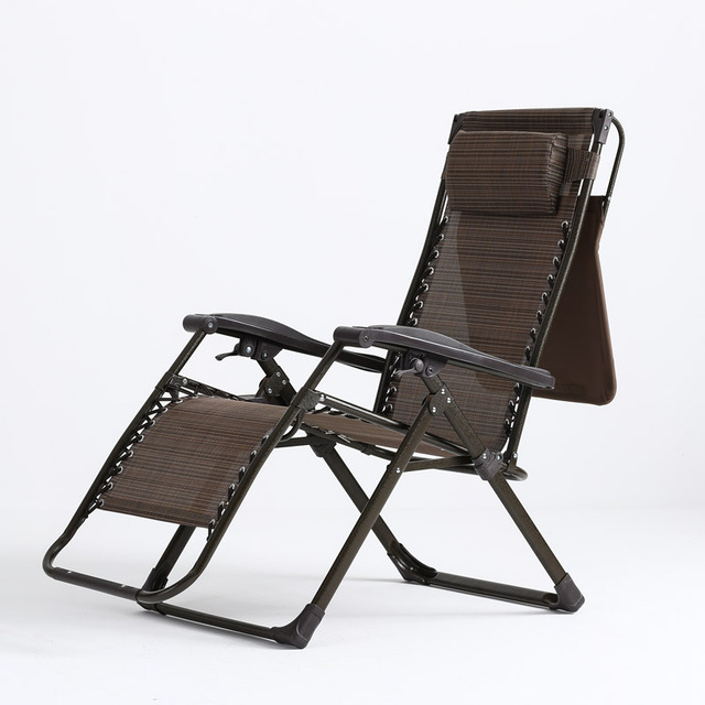 High Quality Portable Outdoor Leisure Chair Folding Easy Sun Lounger Adjustable Lying Chair Breathable Waterproof Furniture
