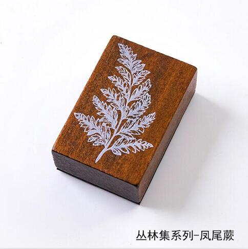 Винтажные лесные травянистые растения, украшение Луны, штамп, деревянные и резиновые штампы для скрапбукинга, канцелярские принадлежности, сделай сам, стандартный штамп - Цвет: 4