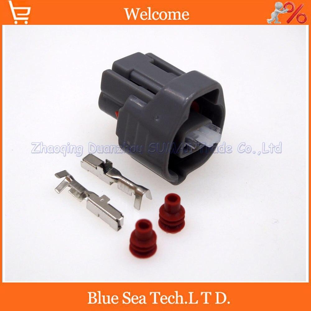 2 Pin Female Auto Plug 90980-10899 7283-7020-10 For Toyota Celica Camry Lexus